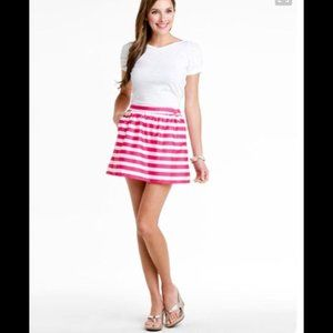 Lilly Pulitzer Mimosa Skirt Pink & White Striped